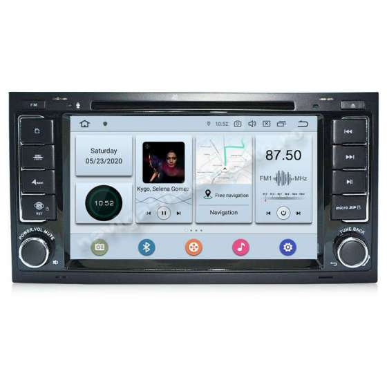 NAVIGATIE Android 10 PX6 4GB Ram 64GB SSD VW TOUAREG MULTIVAN NAVD-P9200