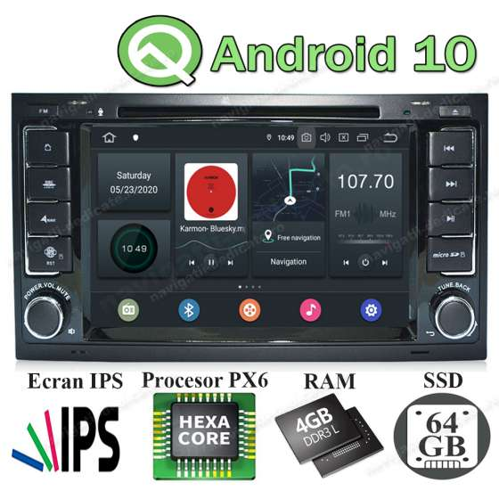 NAVIGATIE Android PX6 4GB Ram 64GB SSD VW TOUAREG MULTIVAN NAVD-P9200