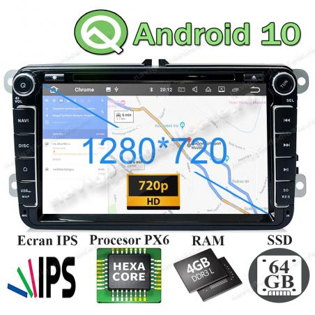 Navigatie Android 10 PX6 4GB Ram 64GB SSD Volkswagen Skoda Seat NAVD-P9240 V2