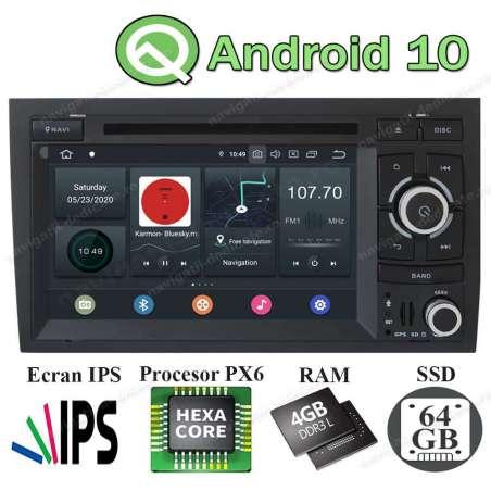 Navigatie Android 10 PX6 4GB Ram 64GB SSD Audi A4 B6 B7 SEAT EXEO NAVD-P050