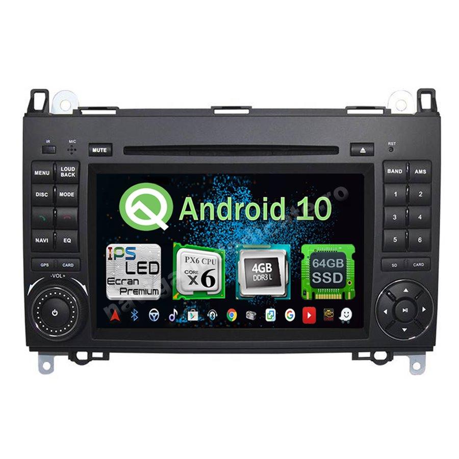Navigatie Android 10 PX6 4GB Ram 64GB SSD Mercedes Benz A B Class Vito Viano Sprinter NAVD-P068