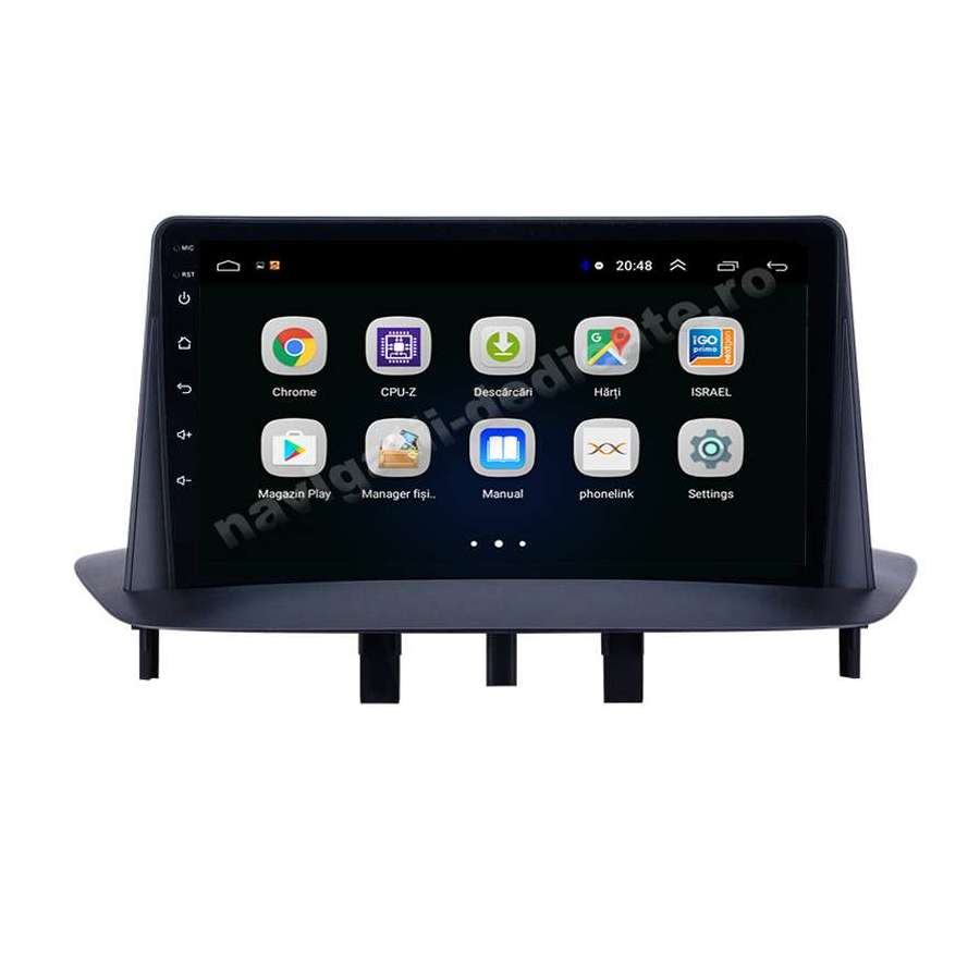 Navigatie Android RENAULT FLUENCE MEGANE 3 Internet Carkit NAVD-E9145