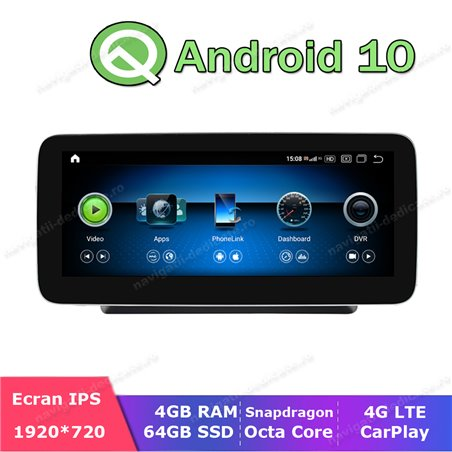 Monitor Navigatie Android Mercedes C Class W205 S205 GLC X253 NTG 5.0 Ecran 10.25 inch Waze Carkit USB NAVD-Z1003C