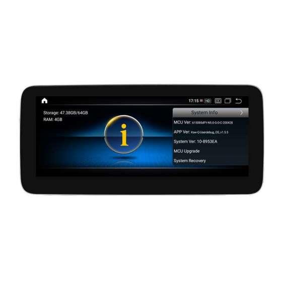 Navigatie Android Mercedes Benz A GLA CLA CLS G Class NTG 5.0 NAVD-1001C