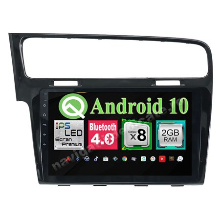 Navigatie Android Vw Golf 7 Octa Core 2GB Ram Ecran 10.1 inch NAVD-I1028