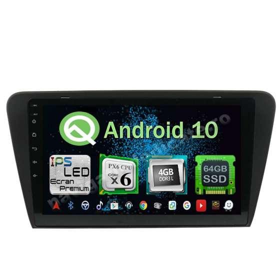 Navigatie Android 10 Skoda Octavia 3 PX6 4GB Ram 64GB SSD Ecran 10.1 inch NAVD-P5520