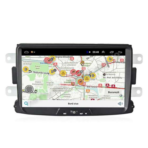 Navigatie Android DACIA LOGAN DUSTER LODGY SANDERO Ecran 8 inch NAVD-E9157