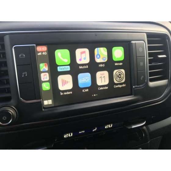 Interfata CarPlay Android Auto Mirror Link, USB video pentru Toyota Proace / Citroen / Peugeot cu sistem NAC