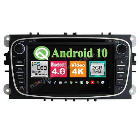 Navigatie Android 10 Ford Focus Mondeo S-Max NAVD-MT9457BK