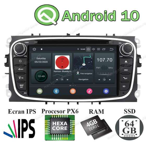 Navigatie Android Rama Neagra Ford Focus Mondeo S-Max NAVD-P9457BK