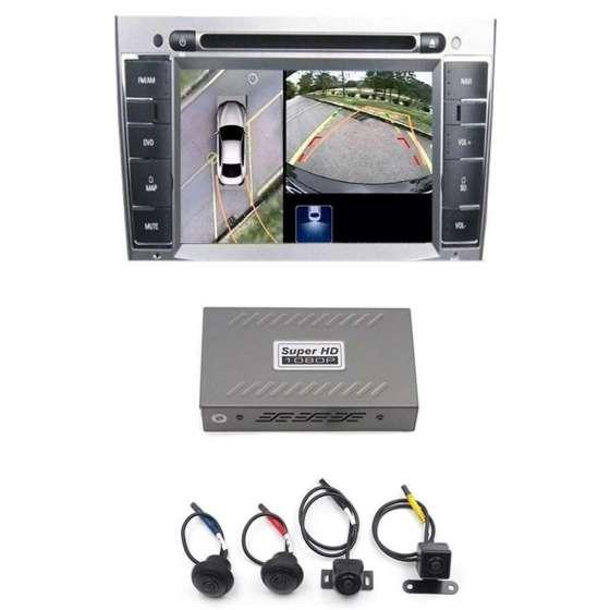 Dvr si Sistem de parcare auto cu 4 camere AHD 360 grade  functie dvr inregistrare si monitorizare