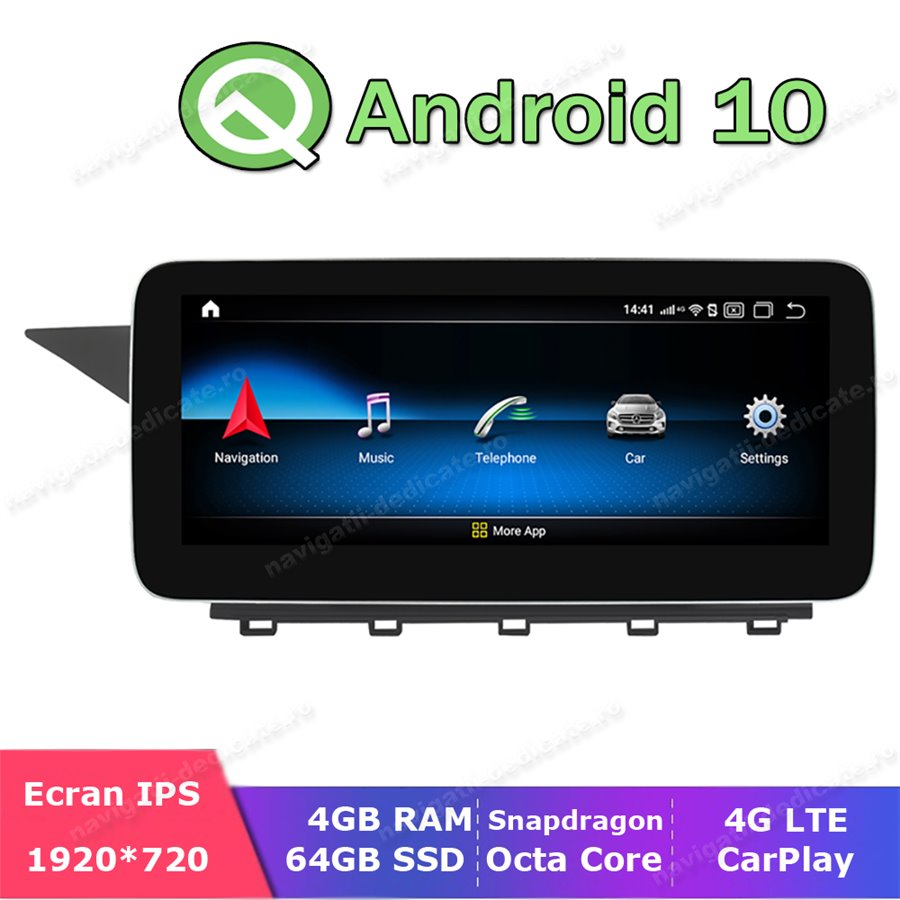 Monitor Navigatie Android Mercedes C Class W204 S204 NTG 4.0 2011-2012 Ecran 10.25 inch Waze Carkit USB NAVD-Z1003A2