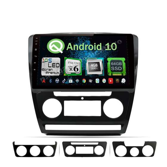 Navigatie Android 10 Skoda Octavia 2 Facelift PX6 4GB Ram 64GB SSD Ecran 10.1 inch NAVD-P10725