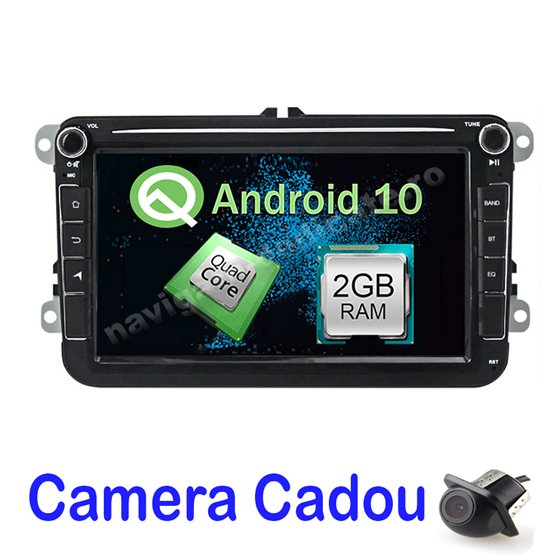 Navigatie Android Volkswagen Skoda Seat 2GB Ram Ecran 8 inch NAVD-AC8500