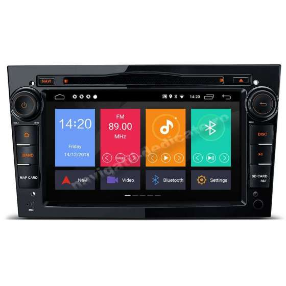 Navigatie Android 10 OPEL Astra H Vectra CORSA Piano Black NAVD-MT019BK