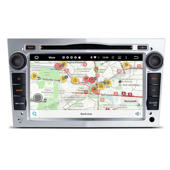 Navigatie Android 10 OPEL Astra H Vectra CORSA Rama Silver NAVD-MT019S
