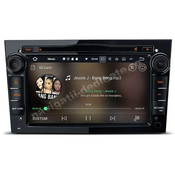 Navigatie Android 10 PX6 4GB Ram 64GB SSD Opel Astra H Vectra Corsa Piano Black NAVD-P019BK