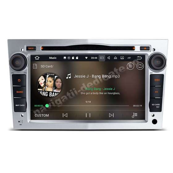 Navigatie Android 10 PX6 4GB Ram 64GB SSD Opel Astra H Vectra Corsa Rama Silver NAVD-P019S