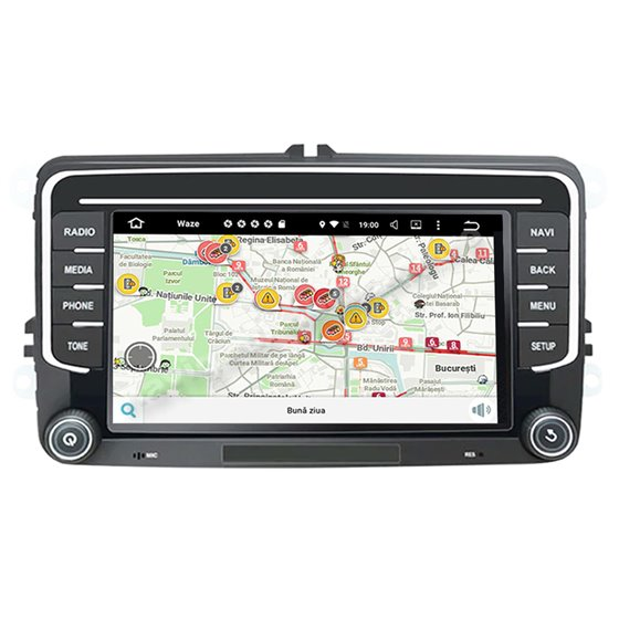 Navigatie Android Volkswagen Skoda Seat 2GB Ram NAVD-AC7500