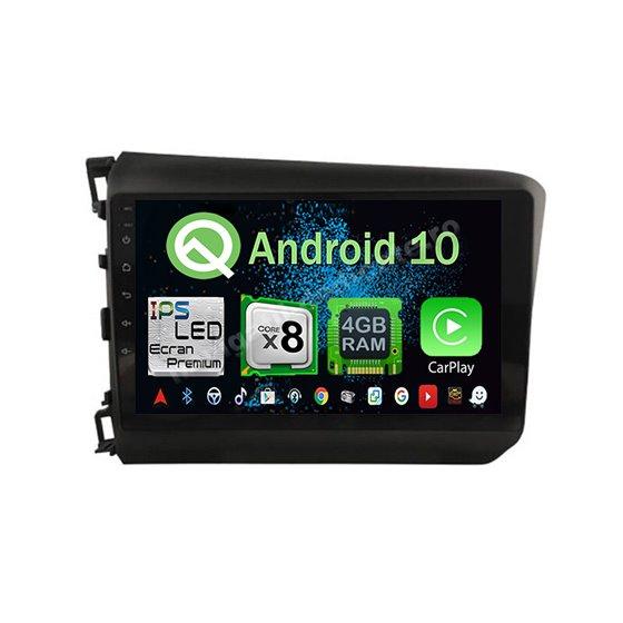 Navigatie Android 10 Honda Civic 2012-2015 Octa Core 4GB Ram Ecran 9 inch NAVD-Z8039