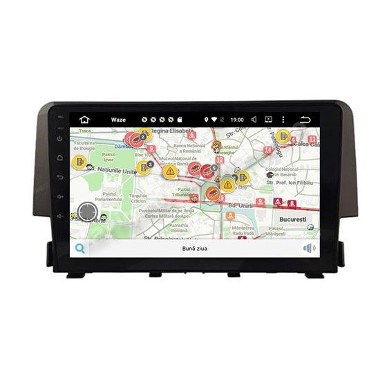 Navigatie Android 10 Honda Civic 2016 Octa Core 4GB Ram Ecran 9 inch NAVD-Z8038