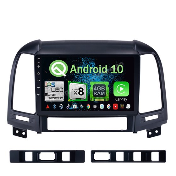 Navigatie Android 10 Hyundai Santa Fe 2006-2012 Octa Core 4GB Ram Ecran 9 inch NAVD-Z8013