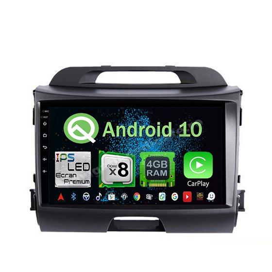 Navigatie Android 10 Kia Sportage 2012 Octa Core 4GB Ram Ecran 9 inch NAVD-Z8027
