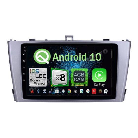 Navigatie Android 10 Toyota Avensis 2009-2015 Octa Core 4GB Ram Ecran 9 inch NAVD-Z8008