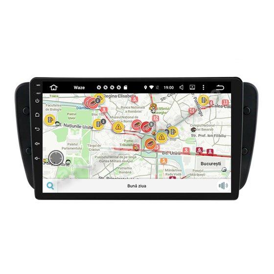 Navigatie Android 10 Seat Ibiza 2009-2014 Octa Core 4GB Ram Ecran 9 inch NAVD-Z8012