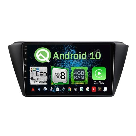 Navigatie Android 10 Skoda Fabia 2015 Octa Core 4GB Ram Ecran 9 inch NAVD-Z8016