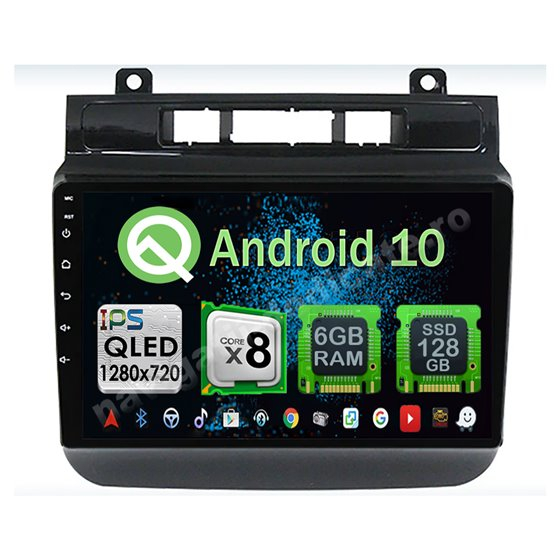 Navigatie Carplay Android 10 Vw Touareg 2011-2017 Octa Core 6GB Ram 128GB SSD Ecran 9 inch NAVD-US9001