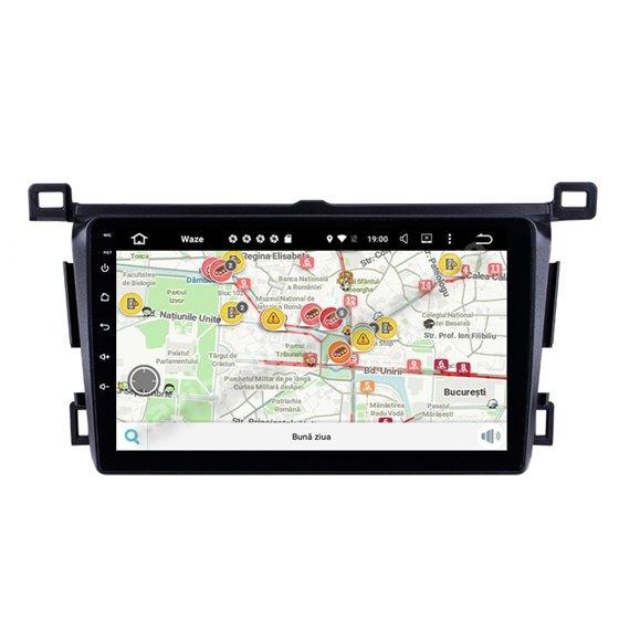 Navigatie Carplay Android 10 Toyota RAV 4 2013-2018 Octa Core 6GB Ram 128GB SSD Ecran 9 inch NAVD-US9004