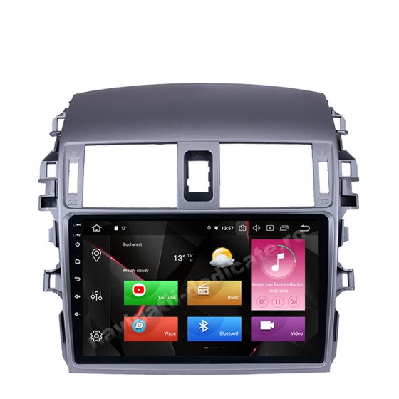 Navigatie Carplay Android 10 Toyota Corolla 2008-2013 Octa Core 6GB Ram 128GB SSD Ecran 9 inch NAVD-US9055