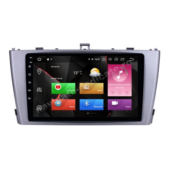 Navigatie Carplay Android 10 Toyota Avensis 2009-2015 Octa Core 6GB Ram 128GB SSD Ecran 9 inch NAVD-US9008