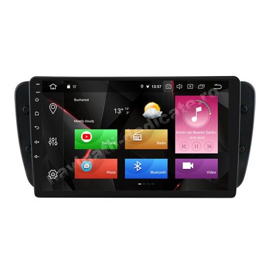 Navigatie Carplay Android 10 Seat Ibiza 2009-2014 Octa Core 6GB Ram 128GB SSD Ecran 9 inch NAVD-US90122
