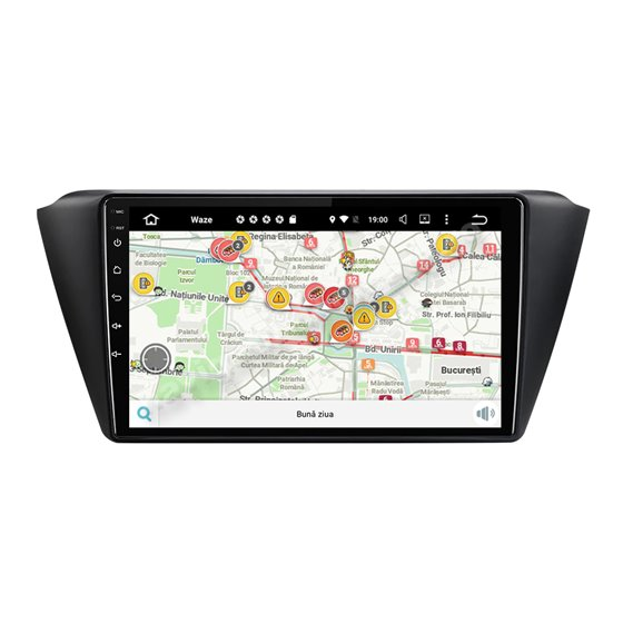 Navigatie Carplay Android 10 Skoda Fabia 2015 Octa Core 6GB Ram 128GB SSD Ecran 9 inch NAVD-US9016
