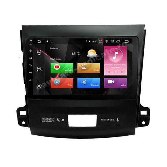 Navigatie Carplay Android 10 Mitsubishi Outlander 2008-2015 Octa Core 6GB Ram 128GB SSD Ecran 9 inch NAVD-US9017