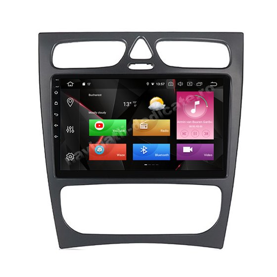 Navigatie Carplay Android 10 Mercedes BENZ C W203 2000-2005 Octa Core 6GB Ram 128GB SSD Ecran 9 inch NAVD-US9019