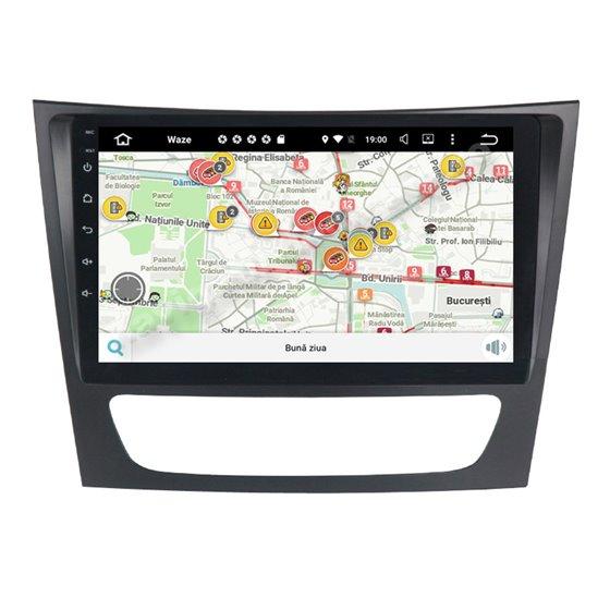 Navigatie Carplay Android 10 Mercedes BENZ E Class W211 Octa Core 6GB Ram 128GB SSD Ecran 9 inch NAVD-US9090