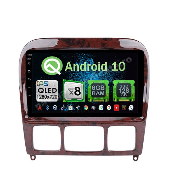 Navigatie Carplay Android 10 Mercedes W220 S Class 1999-2005 Octa Core 6GB Ram 128GB SSD Ecran 9 inch NAVD-US9021