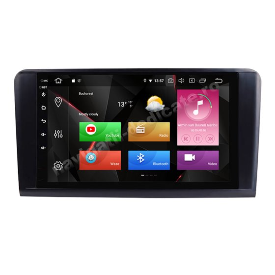 Navigatie Carplay Android 10 Mercedes BENZ Ml W164 Octa Core 6GB Ram 128GB SSD Ecran 9 inch NAVD-US9022