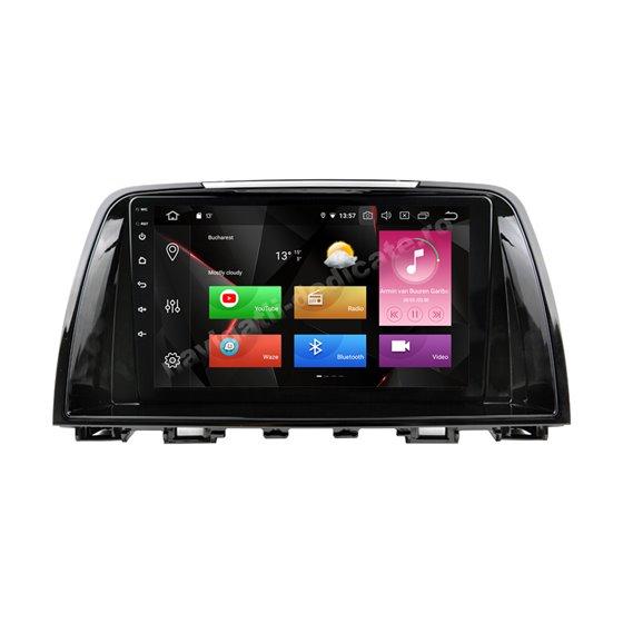 Navigatie Carplay Android 10 MAZDA 6 2014-2017 Octa Core 6GB Ram 128GB SSD Ecran 9 inch NAVD-US9023