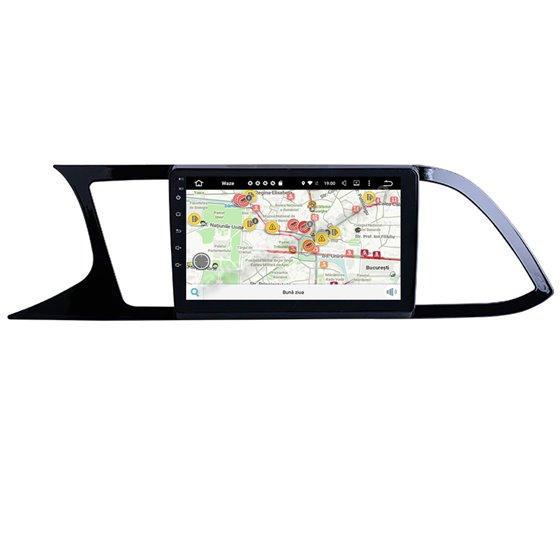 Navigatie Carplay Android 10 Seat Leon 2014-2020 Octa Core 6GB Ram 128GB SSD Ecran 9 inch NAVD-US9026