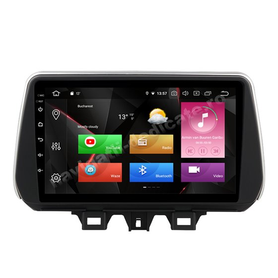 Navigatie Carplay Android 10 Hyundai Tucson 2018 Octa Core 6GB Ram 128GB SSD Ecran 9 inch NAVD-US9030