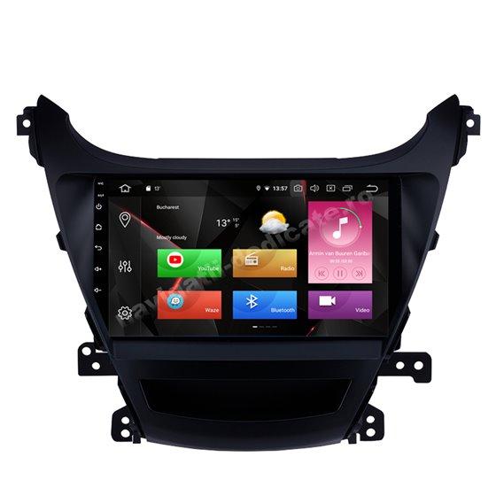 Navigatie Carplay Android 10 Hyundai Elantra 2014 Octa Core 6GB Ram 128GB SSD Ecran 9 inch NAVD-US9035