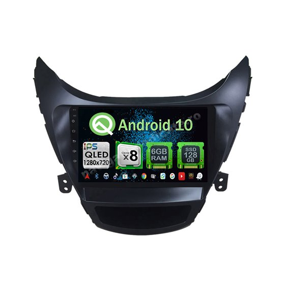 Navigatie Android 10 Hyundai Elantra 2012-2013 Octa Core 4GB Ram Ecran 9 inch NAVD-Z8036