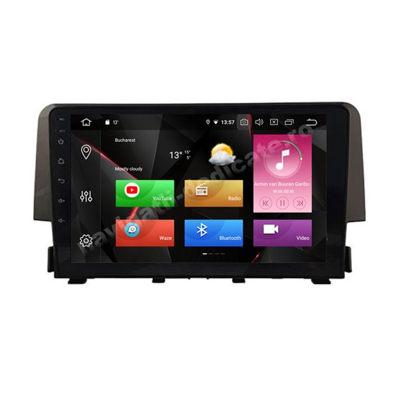 Navigatie Carplay Android 10 Honda Civic 2016 Octa Core 6GB Ram 128GB SSD Ecran 9 inch NAVD-US9038