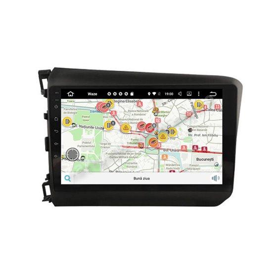 Navigatie Carplay Android 10 Honda Civic 2012-2015 Octa Core 6GB Ram 128GB SSD Ecran 9 inch NAVD-US9039
