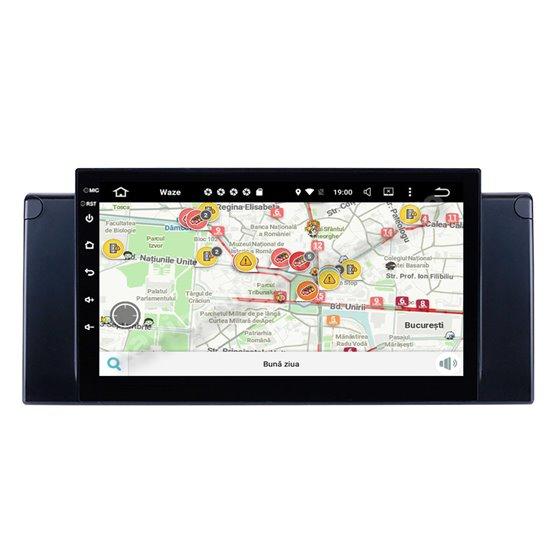 Navigatie Carplay Android 10 BMW E39 X5 E53 Octa Core 6GB Ram 128GB SSD Ecran 9 inch NAVD-US9082