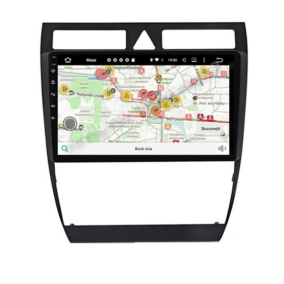 Navigatie Carplay Android 10 Audi A6 Octa Core 6GB Ram 128GB SSD Ecran 9 inch NAVD-US9047